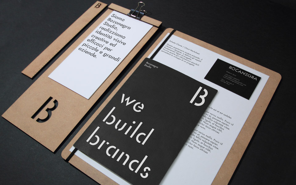 Bocanegra Studio identity brochure and catalogue