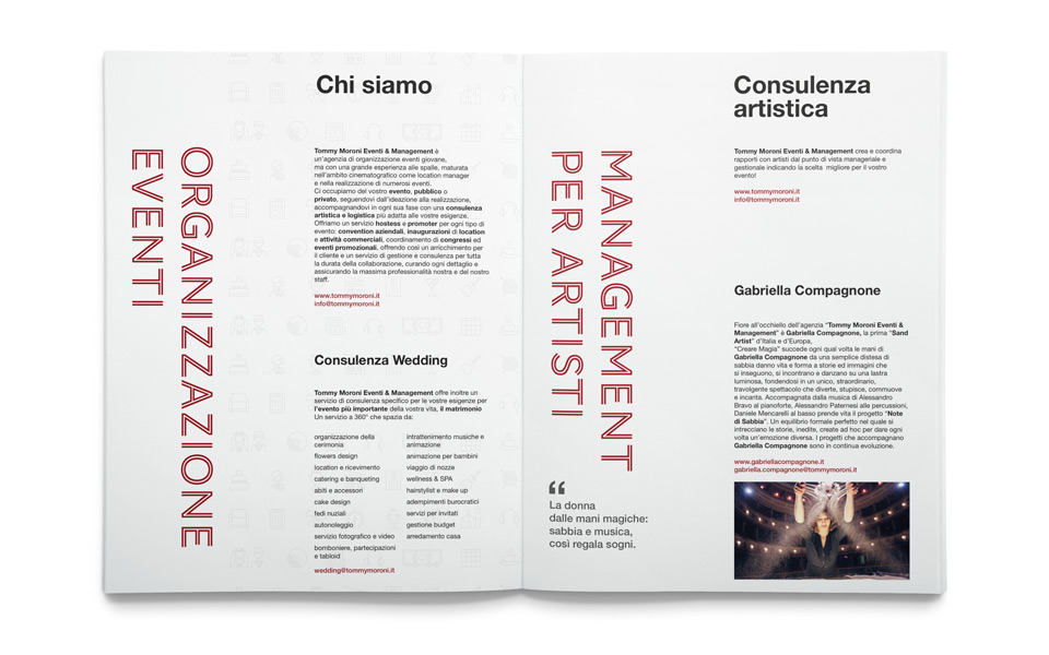 Tommy Moroni Eventi & Management brochure