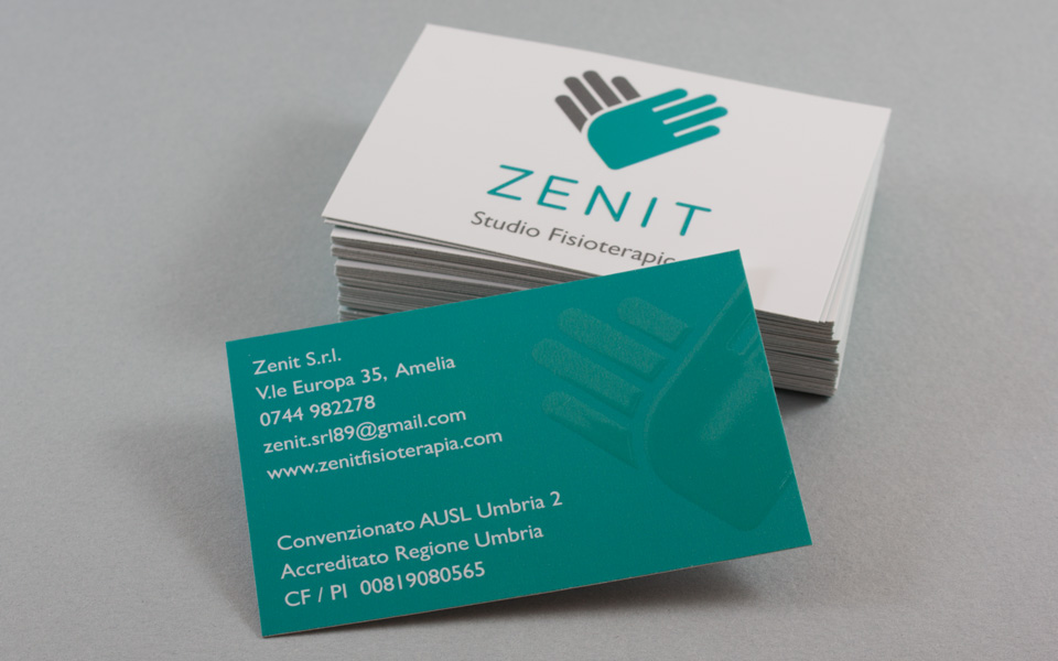 Zenit identity business card design