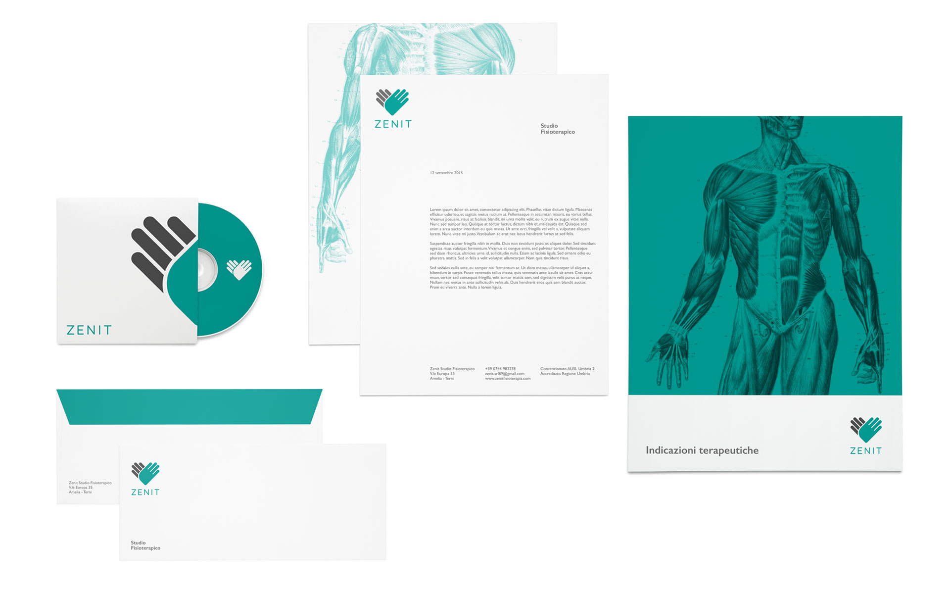 Zenit identity stationery design
