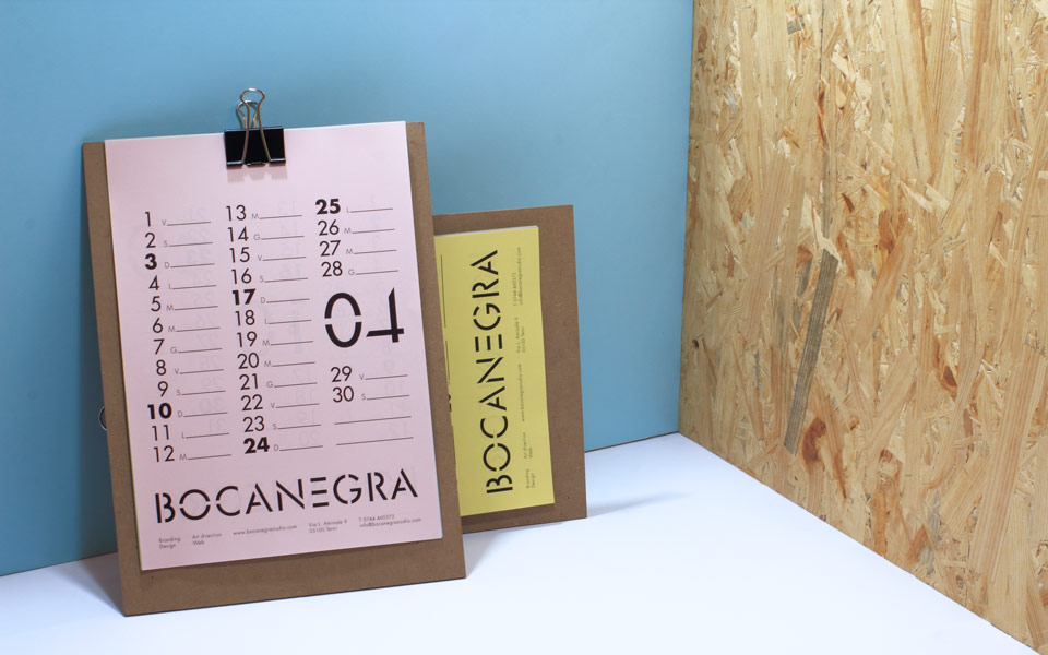 Calendario design Bocanegra