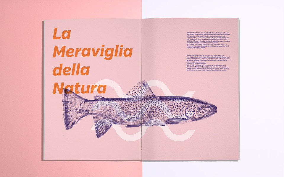 realizzazione grafica catalogo evento Narni Arts On The Black River