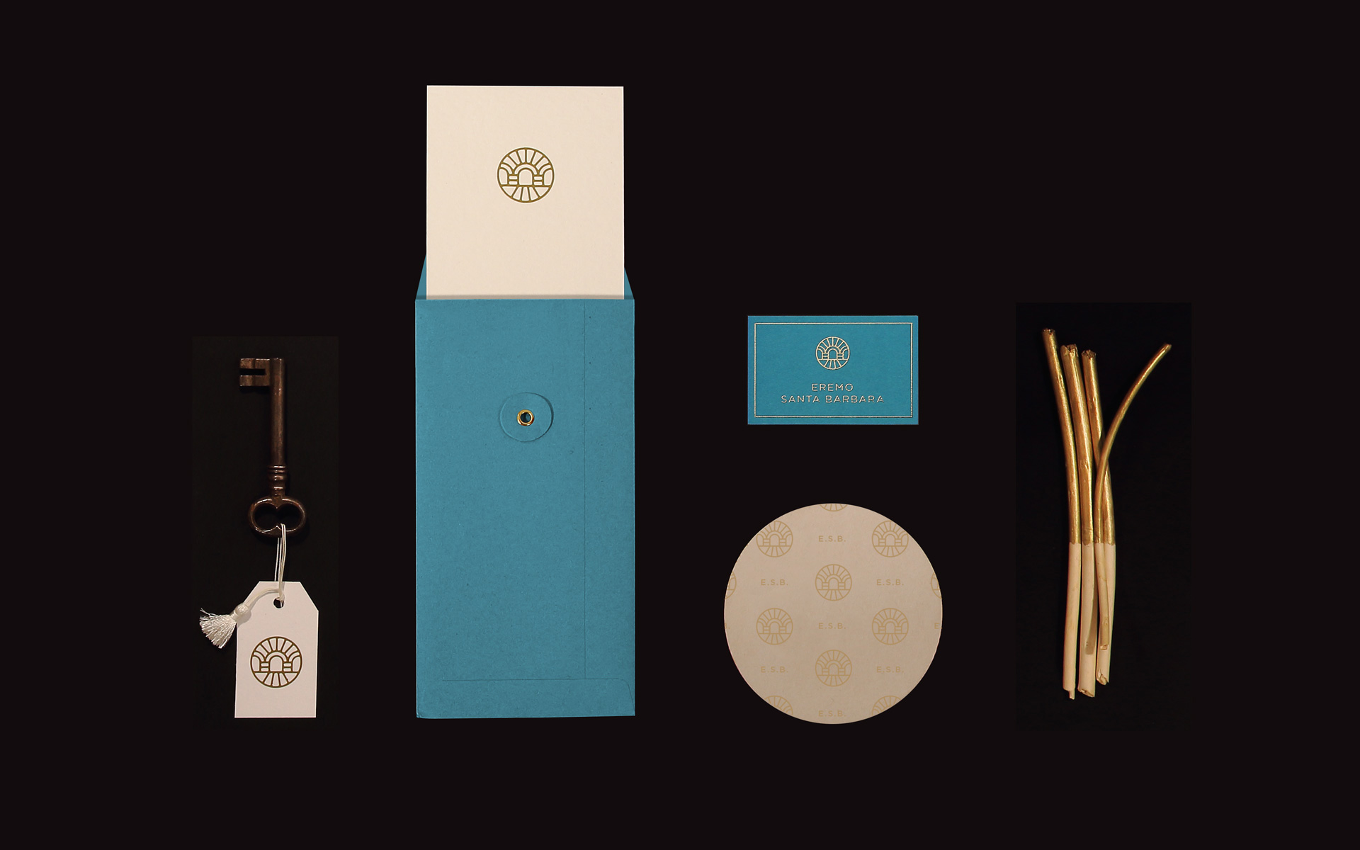 Eremo Santa Barbara stationery design