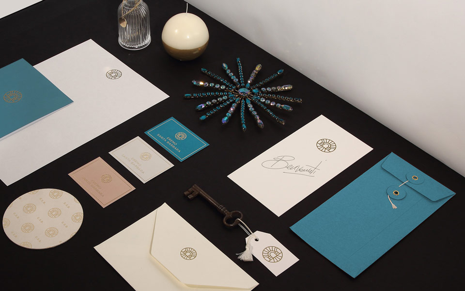 Eremo Santa Barbara Identity elements Stationery