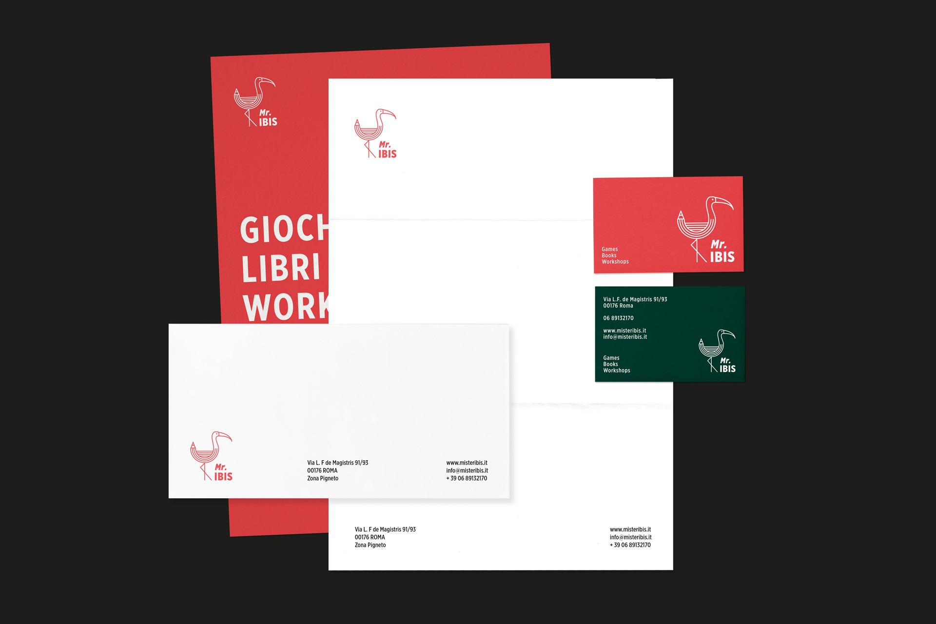 Stationery design Roma