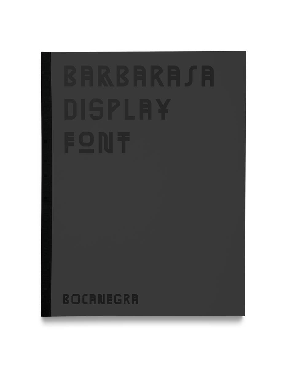 Barbarasa font brochure cover