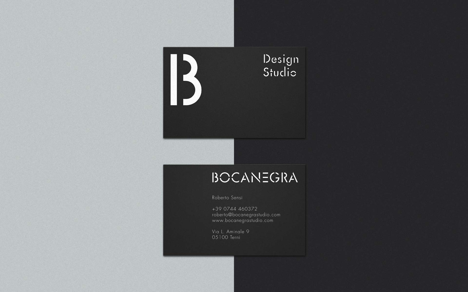 Business Cards and logotype. Bocanegra Studio