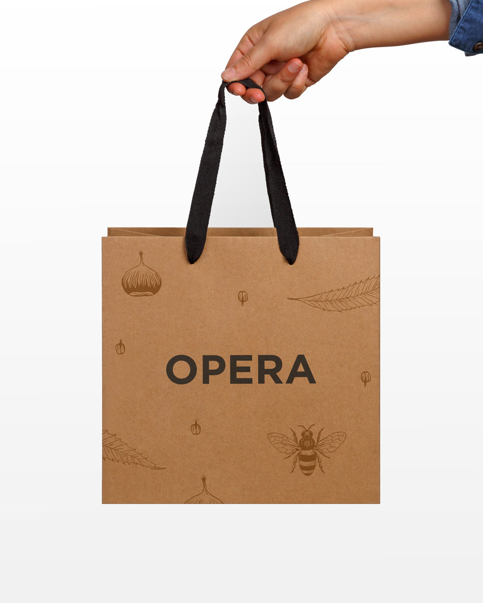 Opera package design bag