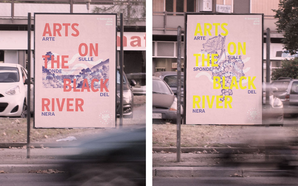 campagna di comunicazione outdoor festival culturale Art On The Black River