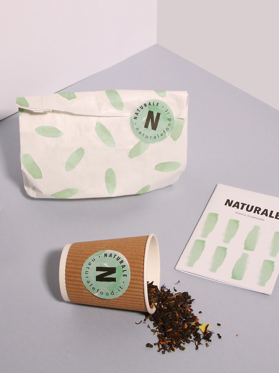 Naturale fast casual restaurant branding